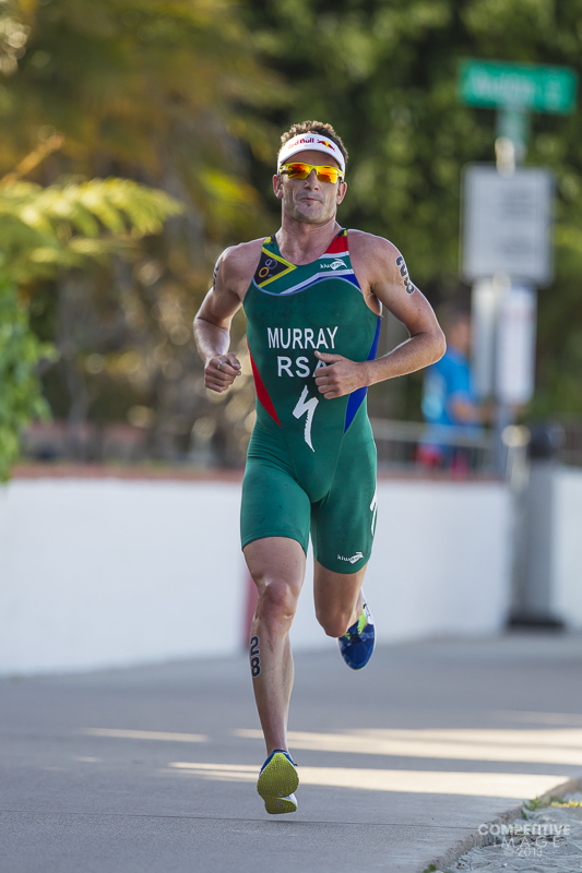 Richard Murray on the run at the ITU World Triathlon Series San Diego