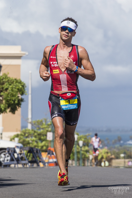 2 time defending champ Timothy O'Donnell, USA, at the 2013 Ironman San Juan 70.3  March 17, 2013