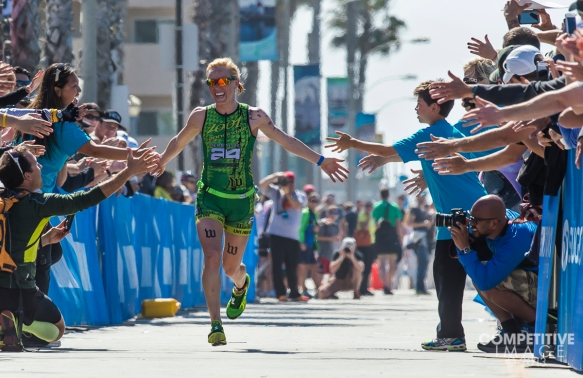 Heather Jackson floats in for the win at the 2013 Oceanside Ironman 70.3